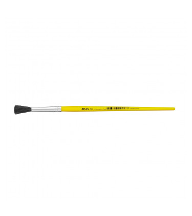 Black goat bristle, round tip artistic brush