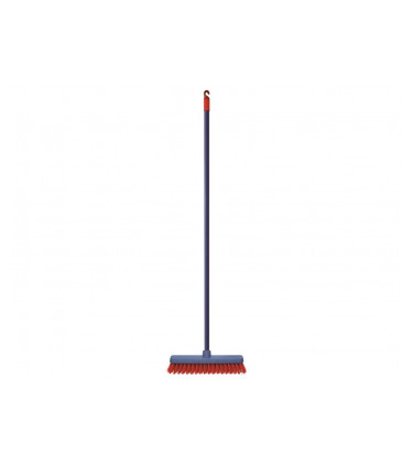 Short rigid bristle broom